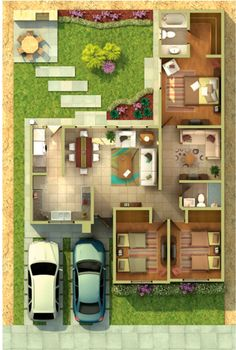 Sims House Plans, Small House Floor Plans, House Layout Plans, Dream House Plans, House Layouts, House Floor Design, Sims 4 House Design, Bungalow House Design, Small House Design
