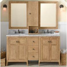 "Ronbow Briella 60"" Double Bathroom Vanity Set with Mirror"