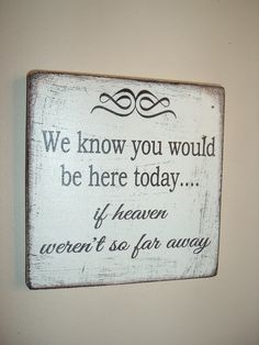 shabby chic wooden plaque/sign in memory wedding sign by debbri, £12.99