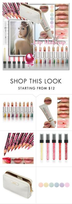 """Lip Makeup"" by ilona-828 ❤ liked on Polyvore featuring beauty, Deborah Lippmann, NYX, Beauty, polyvoreeditorial and newchic"