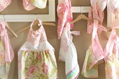 Love these little kid aprons for a Baking Birthday Party!!