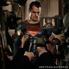 The press interviews Superman in new 'Batman v Superman' image