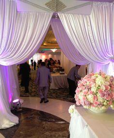 Diamond Entrance to wedding reception at San Jose Dynasty Restaurant.