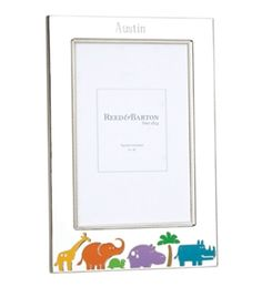 Personalize this adorable silver picture frame for your favorite little explorer! ( and enjoy free shipping on all items in our Jungle Parade Collection for a limited time) Reed & Barton - Jungle Parade Picture Frame, Personalize #babygifts #personalized