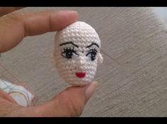 DIY-How to crochet a amigurumi doll head-LEFT HANDED VERSION- móc búp bê bằng len sợi - YouTube