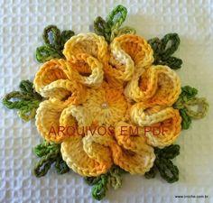 Flor camélia – Passo a passo em PDF   Loja - Croche.com.br