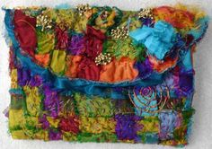 gallery : Stef Francis, World of Threads & Fabrics Sari Silk, Hobbies And Crafts, Creative Inspiration, Textile Art, Tie Dye Skirt, Hand Sewing, Stitching, Textiles, Genre