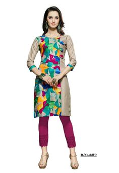 Get the modish look by dresses this beautiful Multi Color Cotton ready made kurti. Features throughout attractive Printed Work,floral design and straight vented hem enrich the look of the attire. #kurti, #cottonkurti, #casual http://www.addsharesale.com/