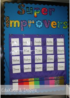 EduKate and Inspire: Using a Super Improver Wall to Increase Motivation and Build a Classroom Community