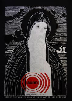 Sunn Poster by STEUSO http://shop.scrapelabs.com/product/sunn-0-live-in-the-jail-torino-2011