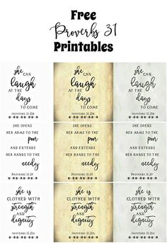 FREE Proverbs 31 Printables - Repurposing Junkie