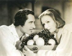 John Gilbert and Greta Garbo in Queen Christina (1933).