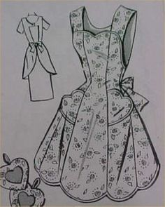 1950 my mother had an apron like this.