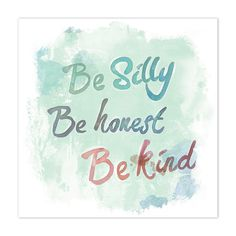 Let& Be Silly X Canvas Wall Art Multi - Featuring lively typography against a watercolor background, the Let& Be Silly Canvas Wall Art offers a wonderful reminder whenever it might be needed. Makes a wonderful gift for someone special. Positive Thoughts, Positive Vibes, Positive Quotes, Quotes For Kids, Quotes To Live By, Faith Quotes, Life Quotes, Favorite Quotes, Best Quotes