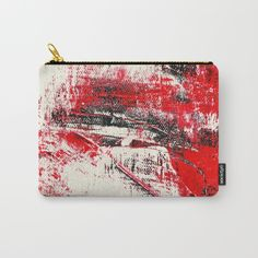 red dream. Carry-All Pouch  by Burcu Keskin on Society6 @society6 #society6 #products #design #shop #shopping #buy #sale #fun #gift #idea #accessory #accessories #home #decor #style #fashion #art #digital #contemporary #cool #hip #awesome #awesomeness #chic #pouch #makeup #cosmetic #bag #red #black #white #paint #painting #abstract #abstraction