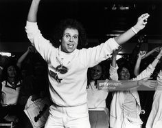 American fitness guru Richard Simmons demonstrates aerobic exercise during a promotional appearance for one of his home videos at Bloomingdale's, New York, New York, June Get premium, high resolution news photos at Getty Images Richard Simmons, Video Site, Life Magazine, Aerobics, Image Now, Documentaries, Promotion, Exercise, American