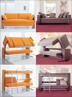 Boa idéia do dia : Um sofá para pequenos espaços e muitas visitas    veio daqui: http://www.clei.co.uk/clei/doc.htm