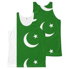 Pakistan, flag All-Over print tank top
