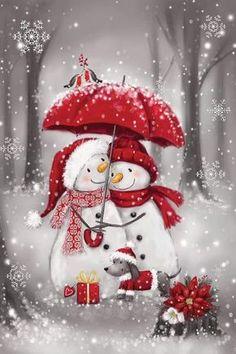 Christmas Snowman, Winter Christmas, Christmas Time, Christmas Crafts, Christmas Ornaments, Xmas, Snowman Christmas Decorations, Christmas Rock, Christmas Cartoons