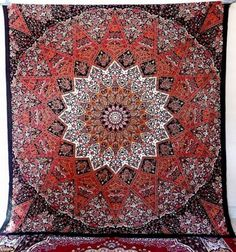LARGE-PSYCHEDELIC-STAR-TAPESTRY-WALL-MANDALA-BED-BEDSPREAD-WALL-HANGING-DECOR