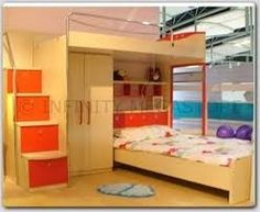 maybe too high for our girls Closet Designs, Bunk Beds, Future House, Drawers, Furniture, Girls, Home Decor, Toddler Girls, Decoration Home