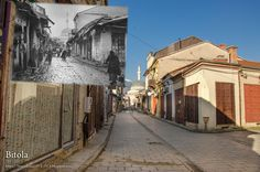 Old Bazaar Bitola - St. Nektarij Street - View toward Isak Mosque  - Bitola 1917 - 2017