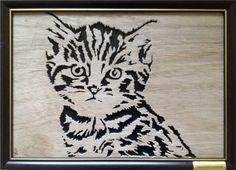 Tabby Kitten 04 (End Framed) - Animals - User Gallery - Scroll Saw Village