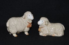 Otagiri Salt and Pepper, Otagiri Sheep, Sheep Salt Shaker, Ram and Ewe Shakers, Otagiri Japan, Lamb Salt Shaker, Otagiri Salt, 1980s Salt by FabulousVintageStore on Etsy