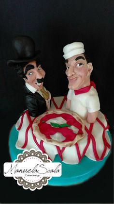 Chaplin vs Totò - Cake by manuela scala