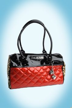 Atomic Tote in Black and Red Sparkle