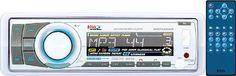 BOSS AUDIO MR752UAB Marine Single-DIN CD/MP3 Player Receiver, Bluetooth, Deta...