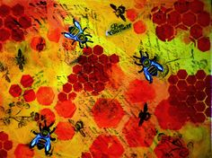bee yourself 8x10 print from original by AffordableARTbyRonda