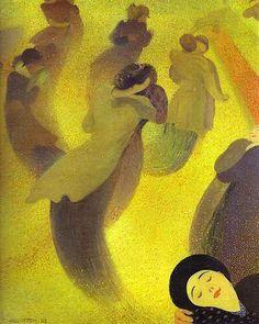 """""""The Waltz - La Valse"""" 1893  by  Felix Vallotton (Swiss 1865-1925)"""