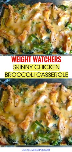 SKINNY CHICKEN BROCCOLI CASSEROLE // #weightwatchersrecipes #smartpointsrecipes #WeightWatchers #weight_watchers #Healthy #Skinny_food #recipes #smartpoints #Chicken