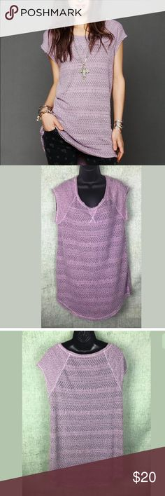 Intimately Free People Purple Knit Lounge Dress Soft and cozy Intimately Free People lounge dress. Excellent gently used condition. No flaws noted. Size medium. Free People Dresses