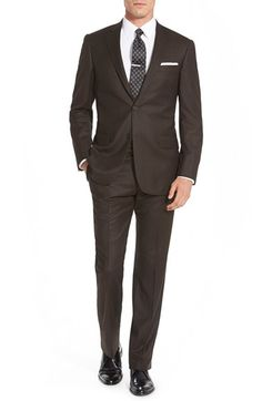 Hart+Schaffner+Marx+'New+York'+Classic+Fit+Solid+Wool+Suit+available+at+#Nordstrom