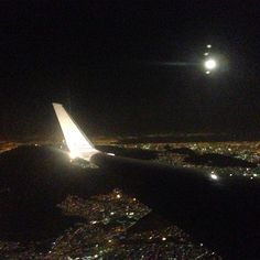 Flying into Mexico City at night. The city is huge.