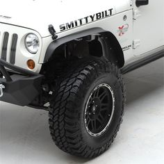 Smittybilt 76837 XRC Black Textured Fender Flare XRC fender flares are tough and durable, and add both style and functionality to your Jeep while maintaining Jeep Jk, 2009 Jeep Wrangler, Jeep Wrangler Unlimited, Custom Chevy Trucks, Classic Chevy Trucks, Jeep Fenders, Chevy Astro Van, Passat B6, Jeep Parts