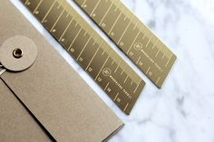 Brass Ruler by Magdalena Tekieli Design Ruler, Brass, Design, Rice