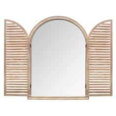 Wood Windows, Deco Design, Mirror, Home Decor, Beige, Natural, Wooden Window Boxes, Mirrors, Windows