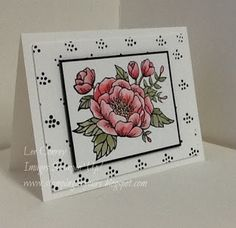 handade card from Stampingleeyours: Birthday Blooms  ... luv the framping and shadowed coloring ... Stampin' Up!