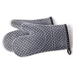 Chefs Heat Resistant Silicone Kitchen Cooking Oven Mitts  Set of 2 Baking Mittens with Cotton Linings * Check out the image by visiting the link.Note:It is affiliate link to Amazon.