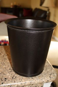 Sand and Sisal: ORB, Oh How I Love Thee--oil rubbed bronze garbage can