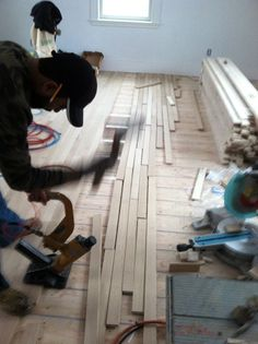 Hardwood floor installation: A fast and efficient like a pro. Learn a simple method to put wooden floors together. Installing along walls, the professional way