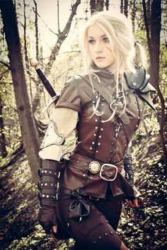 Ciri cosplay, the witcher 3 costume, female witcher, gaming, gamer girl Mode Steampunk, Steampunk Fashion, Fashion Goth, Character Inspiration, Character Design, Character Concept, Writing Inspiration, Design Inspiration, Elfa