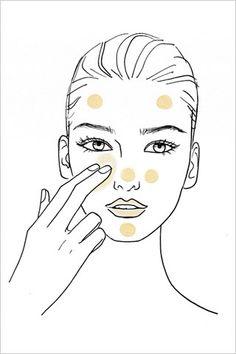 aplicación de base de maquillaje impecable