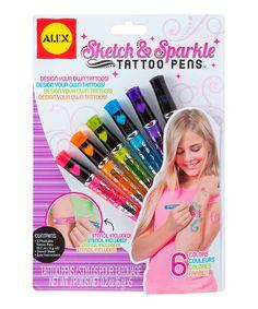 Look at this #zulilyfind! Sketch & Sparkle Tattoo Pen Set by ALEX #zulilyfinds