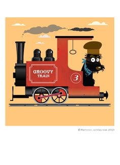 Groovy train Digital PRINT