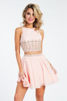 e89ce769757 Rachel Allan - 4576 Two-Piece Beaded Chiffon Short Cocktail Dress ( sleeveless