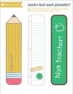Printable Bookmarks Teachers | Activity Shelter
